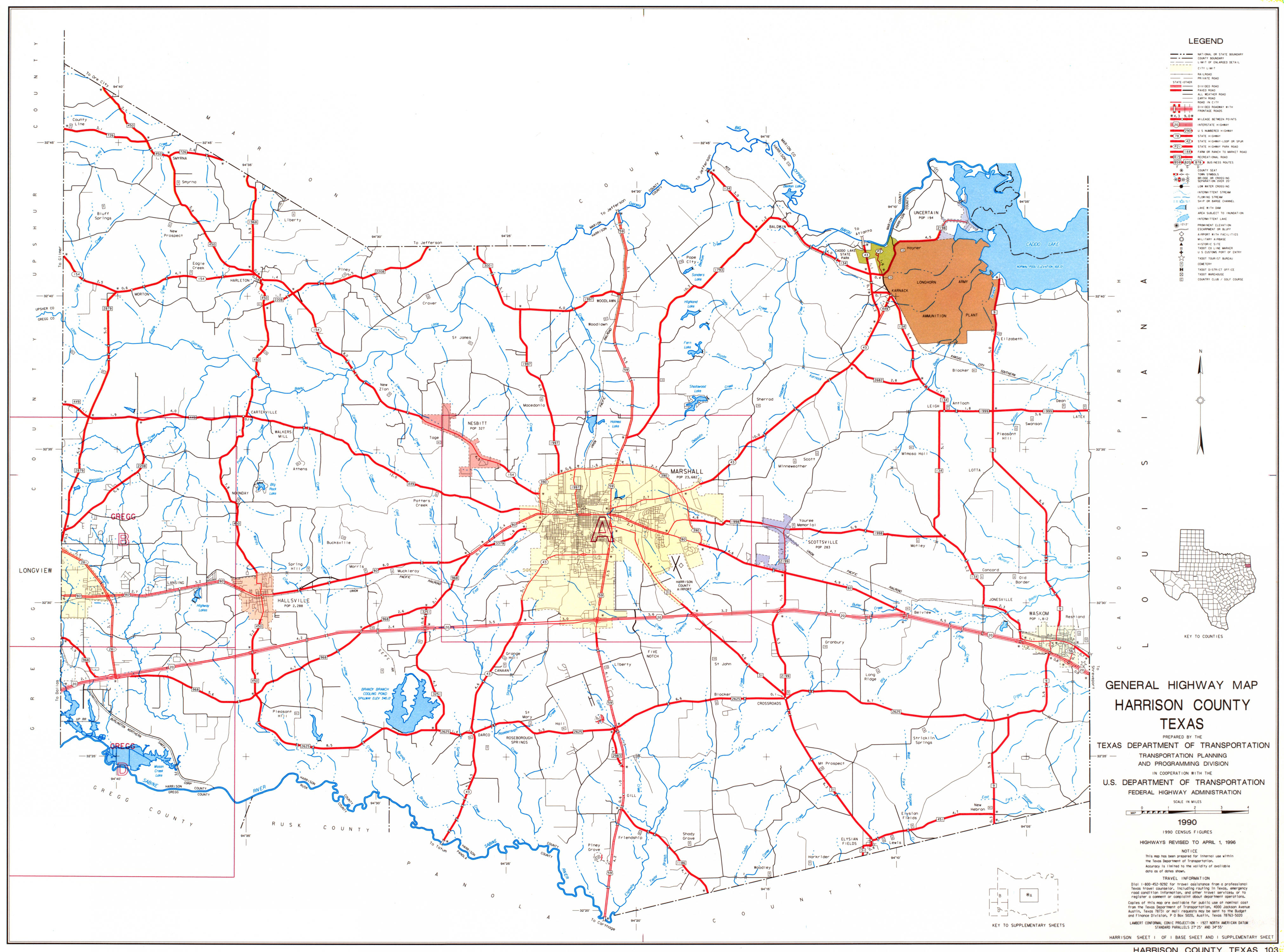 Harrison County Texas Map